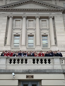 WCHS students in Frankfort-2