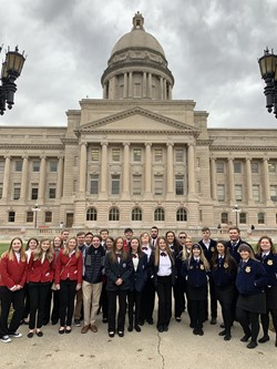 WCHS students in Frankfort-3