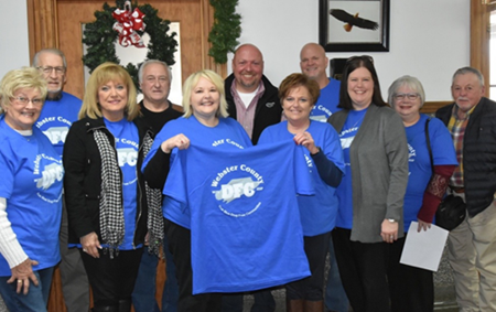 Webster County True Blue Drug Free Community Proclamation