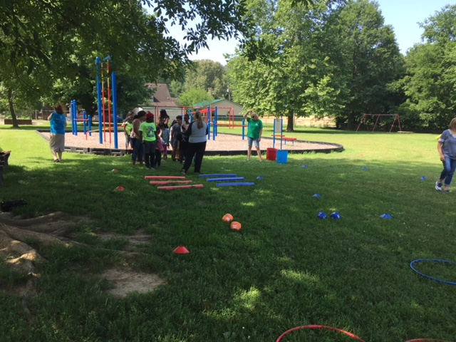 Obstacle course with Baptist Health